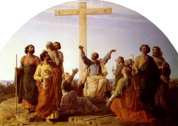 Le Depart des apotres allant precher lEvangile